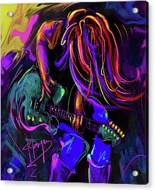 Hair Guitar 2 Acrylic Print by DC Langer