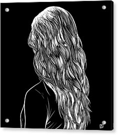 Hair In Black Acrylic Print by Giuseppe Cristiano