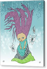 Hair Is A Tree Acrylic Print by Lindsey Cormier