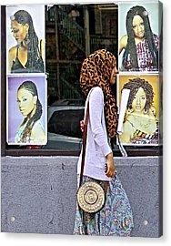 Hair Or Hijab Acrylic Print by Robert Frank Gabriel