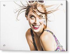 Hair Salon Portrait Acrylic Print