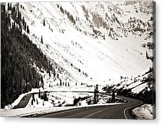 Hairpin Turn Acrylic Print by Marilyn Hunt