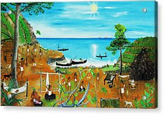 Haiti 1492 Before Christopher Columbus Acrylic Print by Nicole Jean-Louis