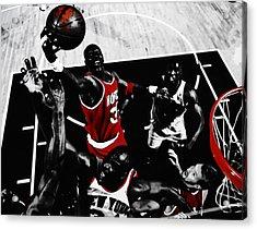 Hakeem Olajuwon Gimme Dat Acrylic Print by Brian Reaves