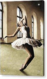 Halcyon Ballerina Acrylic Print by Richard Young
