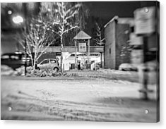 Hale Barns Square In The Snow Acrylic Print