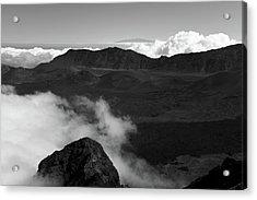 Haleakala B/w Acrylic Print