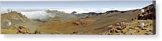 Acrylic Print featuring the photograph Haleakala Crater Panorama by Peter J Sucy