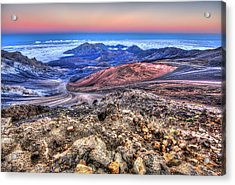 Acrylic Print featuring the photograph Haleakala Crater Sunset Maui II by Shawn Everhart