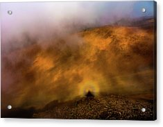 Acrylic Print featuring the photograph Haleakala Halo by M G Whittingham