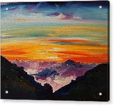 Haleakala Volcano Sunrise In Maui      101 Acrylic Print