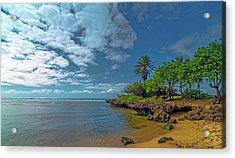 Haleiwa Beach Acrylic Print by Bob Juarez