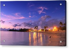 Acrylic Print featuring the photograph Hale'iwa Evening by Geoffrey Lewis