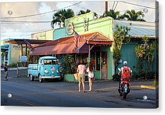 Acrylic Print featuring the photograph Hale'iwa Shops by Geoffrey Lewis