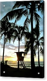 Haleiwa Sunset Acrylic Print by Kevin Munro