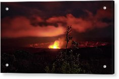 Acrylic Print featuring the photograph Halemaumau Crater by Susan Rissi Tregoning