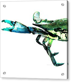 Half Crab - The Left Side Acrylic Print by Sharon Cummings