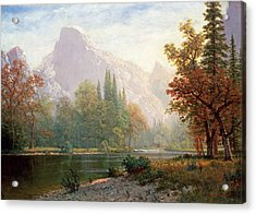 Half Dome Acrylic Print by MotionAge Designs