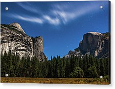 Half Dome And Moonlight - Yosemite Acrylic Print