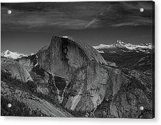 Half Dome From Columbia Rock In Black And White Acrylic Print