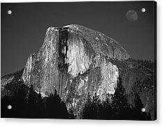 Half Dome Moonrise Acrylic Print