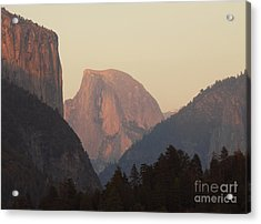 Half Dome Rising In Distance Acrylic Print by Max Allen
