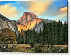 Half Dome Sunset Acrylic Print by Chuck Kuhn
