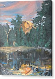 Half Dome Sunset Acrylic Print by Travis Day