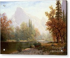 Half Dome Yosemite Acrylic Print by Albert Bierstadt