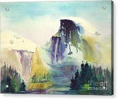 Half Dome Yosemite Acrylic Print by Maryann Schigur