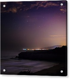Acrylic Print featuring the photograph Half Moon Bay Aglow by Geoffrey Lewis