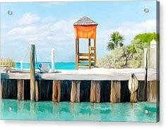Half Moon Cay Acrylic Print