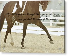 Half Pass Quote Acrylic Print by JAMART Photography