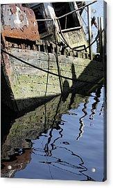 Half Sunk Boat Acrylic Print