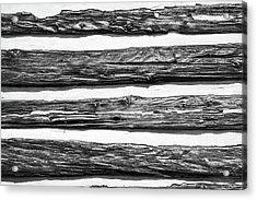 Half-timbered Wall Acrylic Print by Bill Mock