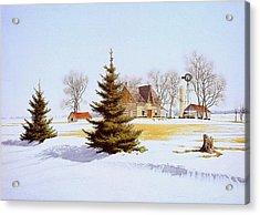 Halfway Into January Acrylic Print by Conrad Mieschke
