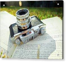 Halina 35x Rangefinder Camera Acrylic Print by Jon Woodhams