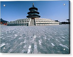 Hall Of Prayer For Good Harvest Acrylic Print by George Oze