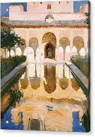 Hall Of The Embassadors Alhambra Granada Acrylic Print by Joaquin Sorolla y Bastida