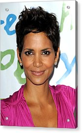 Halle Berry At Arrivals For Silver Rose Acrylic Print by Everett