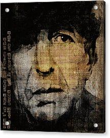 Hallelujah Leonard Cohen Acrylic Print by Paul Lovering