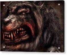 Halloween -  Mad Dog Acrylic Print by Mike Savad