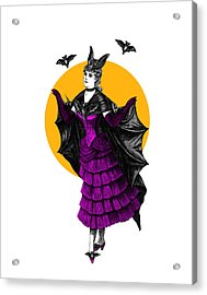 Halloween Batgirl Acrylic Print