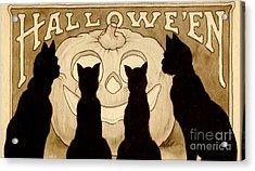 Halloween Card Acrylic Print by American School