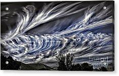 Halloween Clouds Acrylic Print