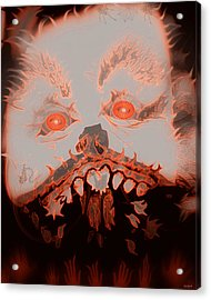 Halloween Devil Acrylic Print by Linda Galok