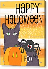 Halloween Friends- Art By Linda Woods Acrylic Print