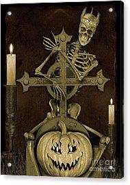 Halloween Graveyard-a Acrylic Print