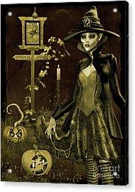 Halloween Graveyard-c Acrylic Print