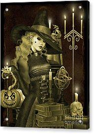 Halloween Graveyard-e Acrylic Print